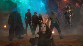 The Guardians of the Galaxy stand together