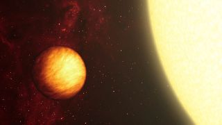 Upsilon Andromedae b is an exoplanet of varying extremes of temperature. Its dayside which permanently faces its parent star experiences hellishly high temperatures, whilst its nightside is below freezing.