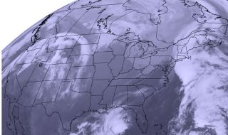 Satellite View of Thanksgiving Storms