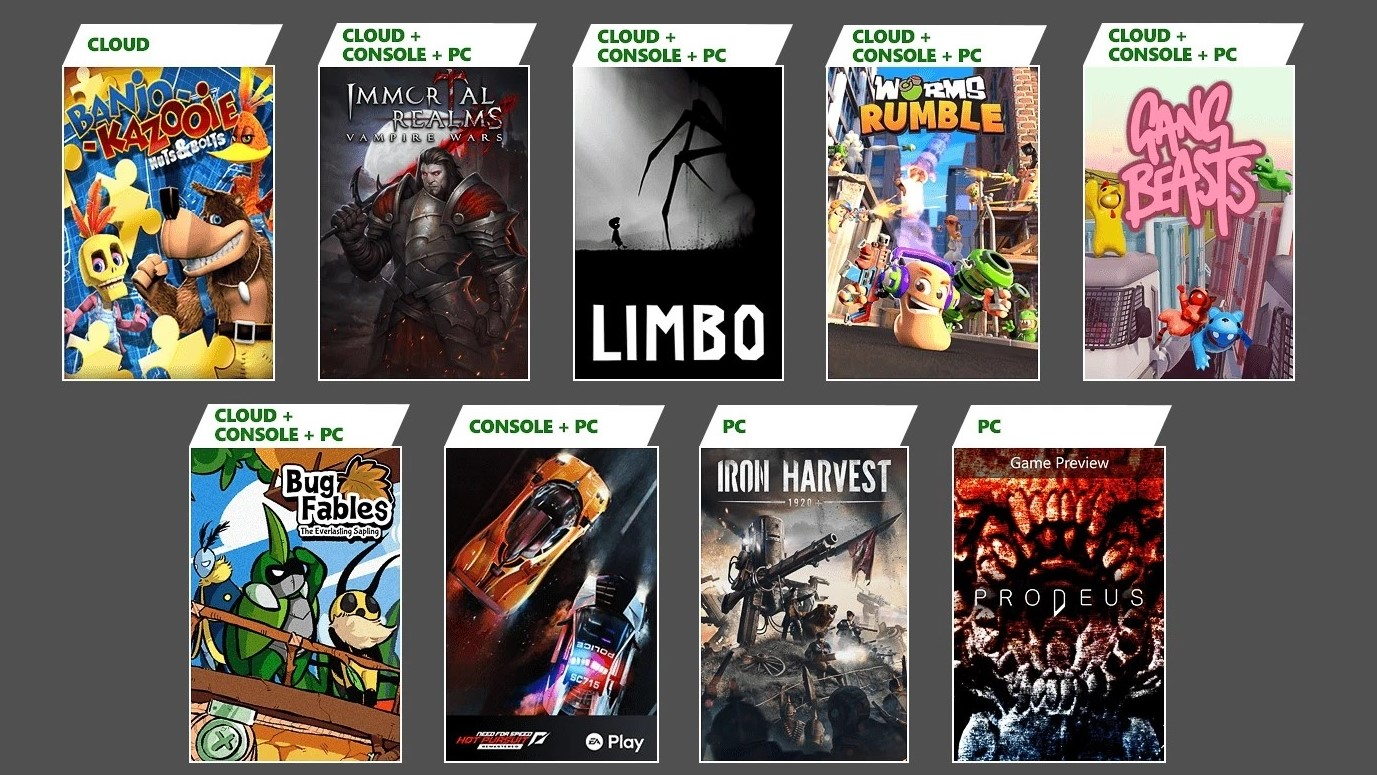 Xbox Game Pass games June and July