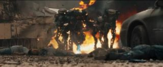 Alien foot soldiers menace humankind in the 2011 film 'Battle: Los Angeles.'