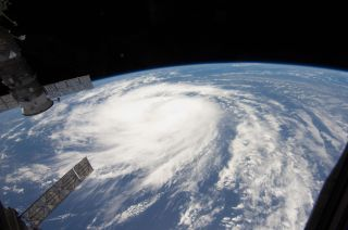 Katia was a tropical storm gathering energy over the Atlantic Ocean when one of the Expedition 28 crew took this photo on Aug. 31, 2011, from aboard the International Space Station.