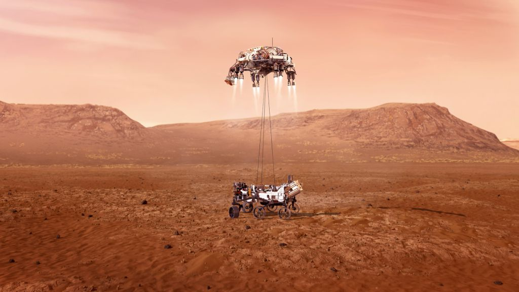 What time will NASA's Perseverance rover land on Mars today?