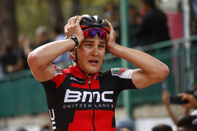 Silvan Dillier (BMC Racing) can't believe he's won