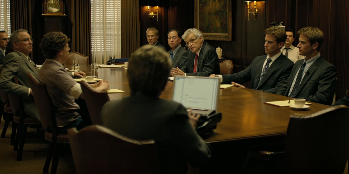 One of the many deposition scenes in The Social Network