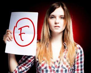 Grade of F