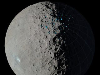 Ceres permanent shadows