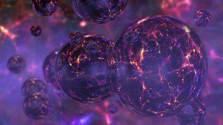 A conceptual image of bubbles in quantum foam.