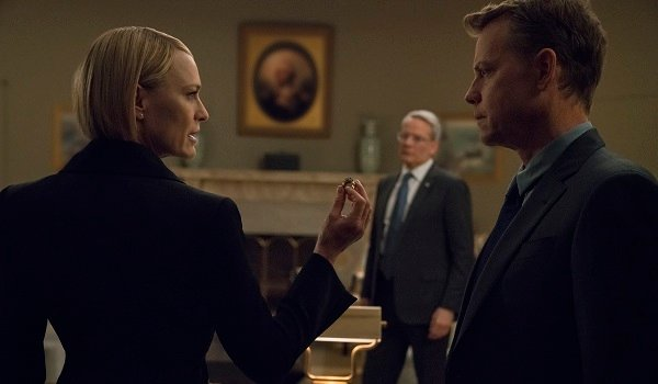 Claire and Bill Robin Wright Greg Kinnear House of Cards Netflix