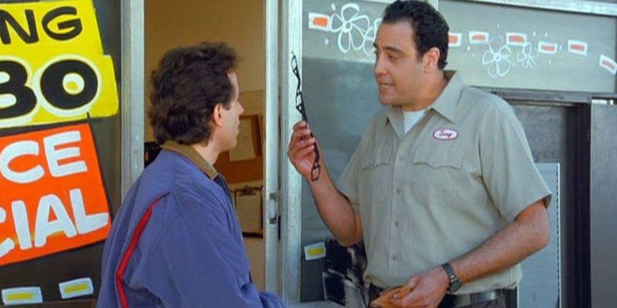 Jerry Seinfeld and Brad Garrett on Seinfeld