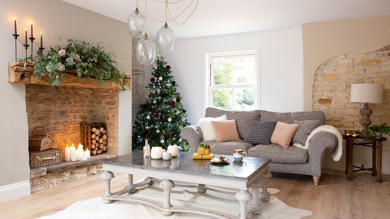 Laura and Mark Stubbs converted mill house comes into its own at Christmas