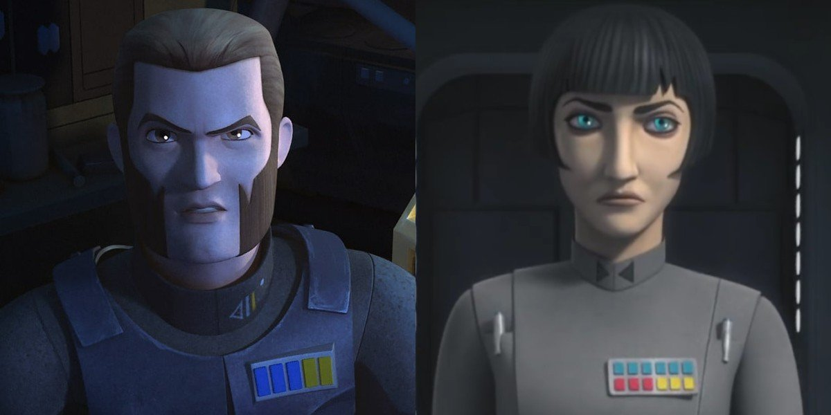 Agent Kallus and Governor Pryce in Star Wars Rebels