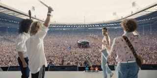 Bohemian Rhapsody characters performing