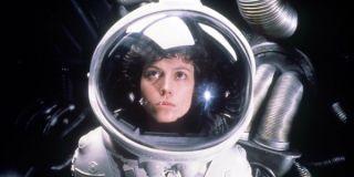 Sigourney Weaver in a spacesuit in Alien