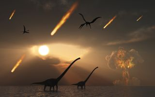 Asteroid impact and dinosaur extinction