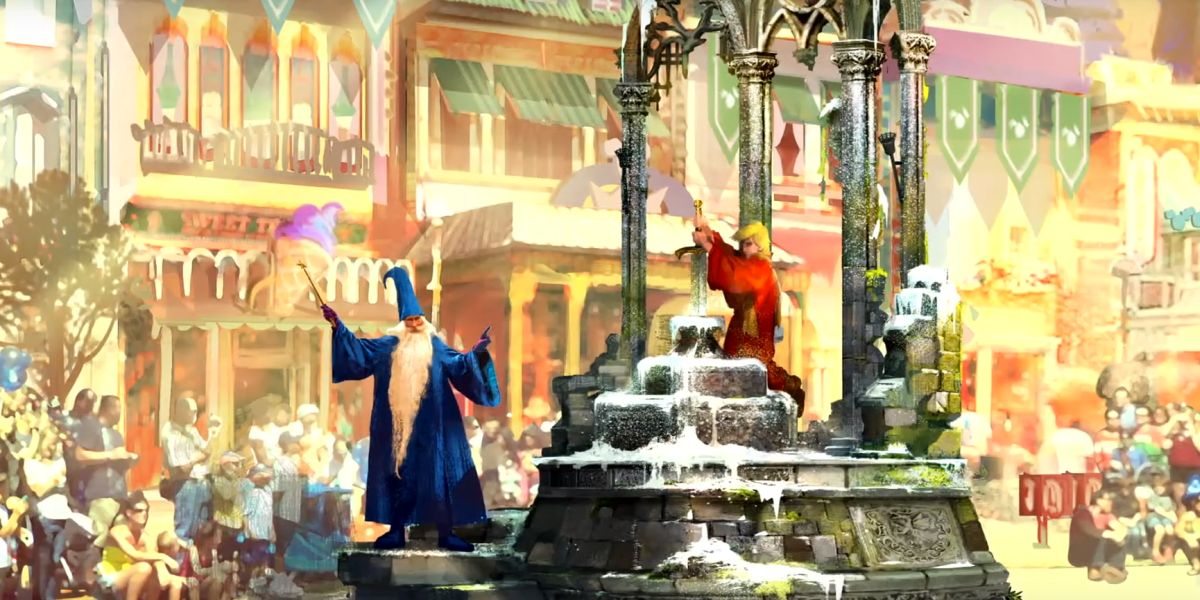 Sword in the Stone float concept art.