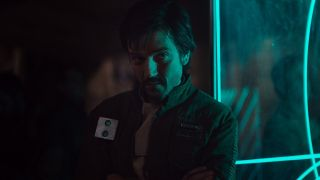 Cassian Andor (Diego Luna) stares ahead in Rogue One: A Star Wars Story (2016)