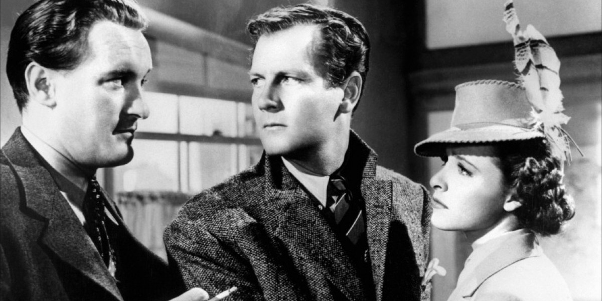 Joel McCrea, Laraine Day, and George Sanders in Alfred Hitchcock's Foreign Correspondent