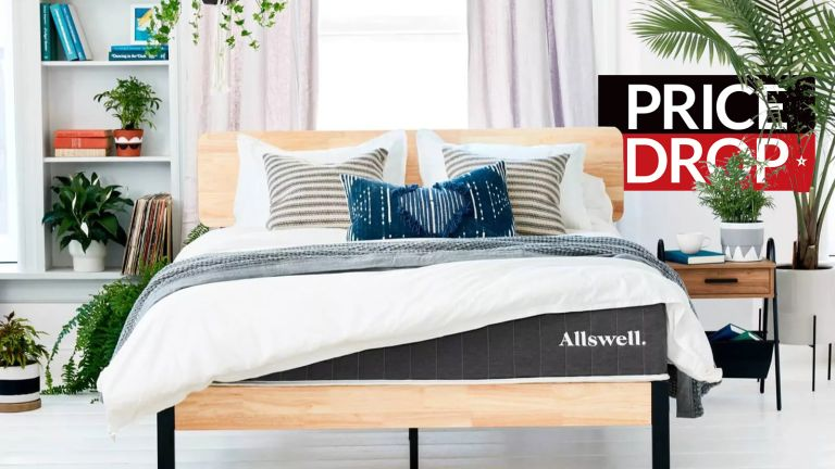 Allswell mattress in styled bedroom