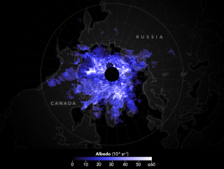 Electric blue streaks through the upper regions of Earth's atmosphere every summer in the Northern Hemisphere. They usually swirl above the Arctic in the mesosphere (about 50 miles (80 kilometers) above Earth's surface), but sometimes they form lower in the atmosphere and show up in other places across the globe. This image shows an image of noctilucent (or night-shining) clouds on June 23. The image, made using data from NASA's Aeronomy of Ice in the Mesosphere (AIM) craft, ic centered on the North Pole.