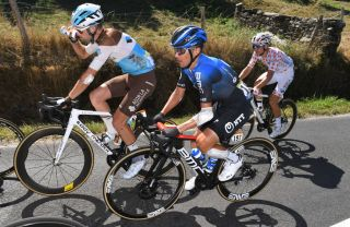 NTT's Domenico Pozzovivo has struggled at the 2020 Tour de France with an elbow injury sustained in a crash on the opening stage of the race