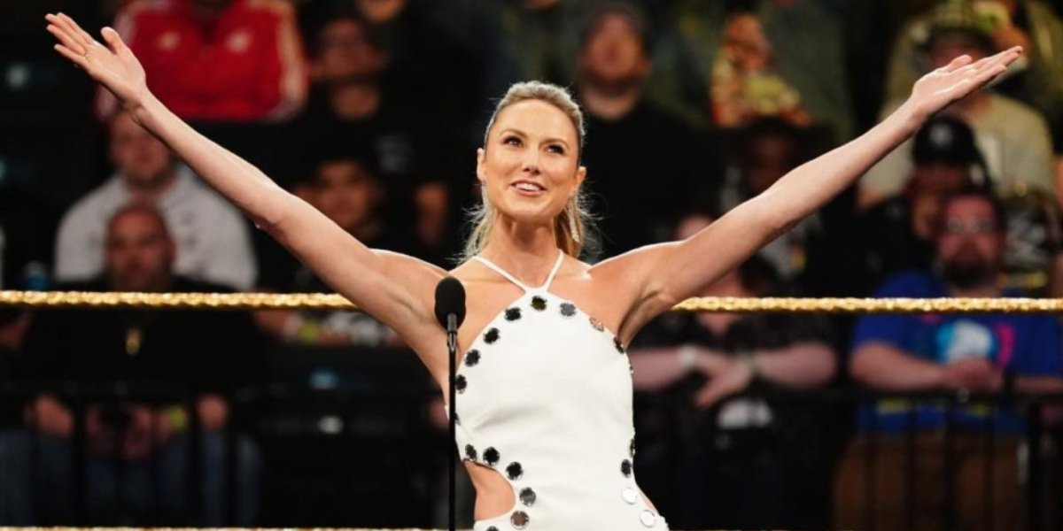 Stacy Keibler at the 2019 WWE Hall of Fame Induction Ceremony