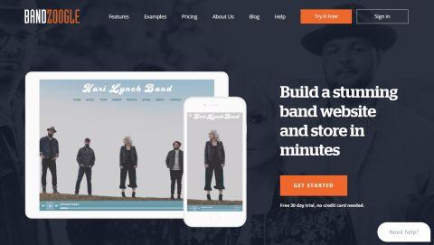 Bandzoogle's homepage