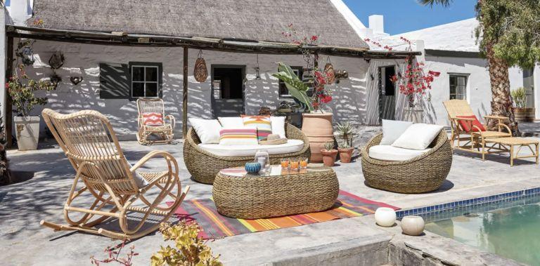 rattan garden furniture: Maisons du Monde summer 2019