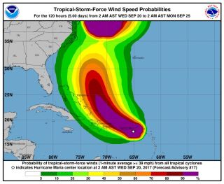 Hurricane Maria Wind Speeds