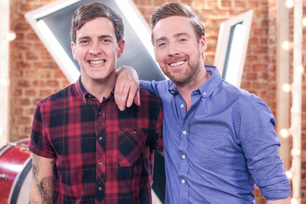 Stevie McCrorie with coach Ricky Wilson (BBC/Wall To Wall Productions/Guy Levy)