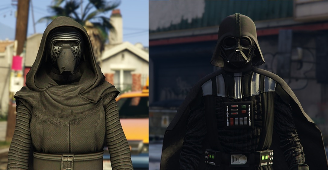 GTA 5 mods: Darth Vader & Kylo Ren