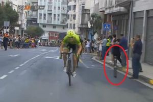 Vuelta a España organisers apologise for bollard that caused Kruijswijk injury
