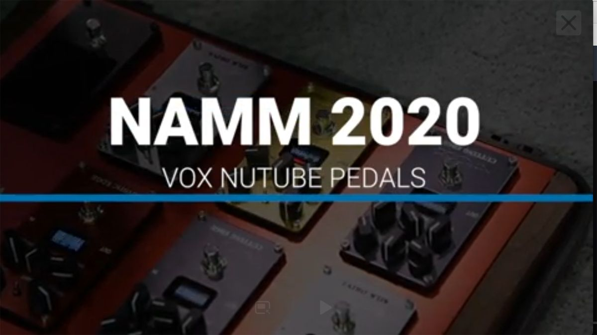 NAMM 2020 VIDEO: Vox's Nutube tech gives its new Valvenergy pedal series a valve amp feel