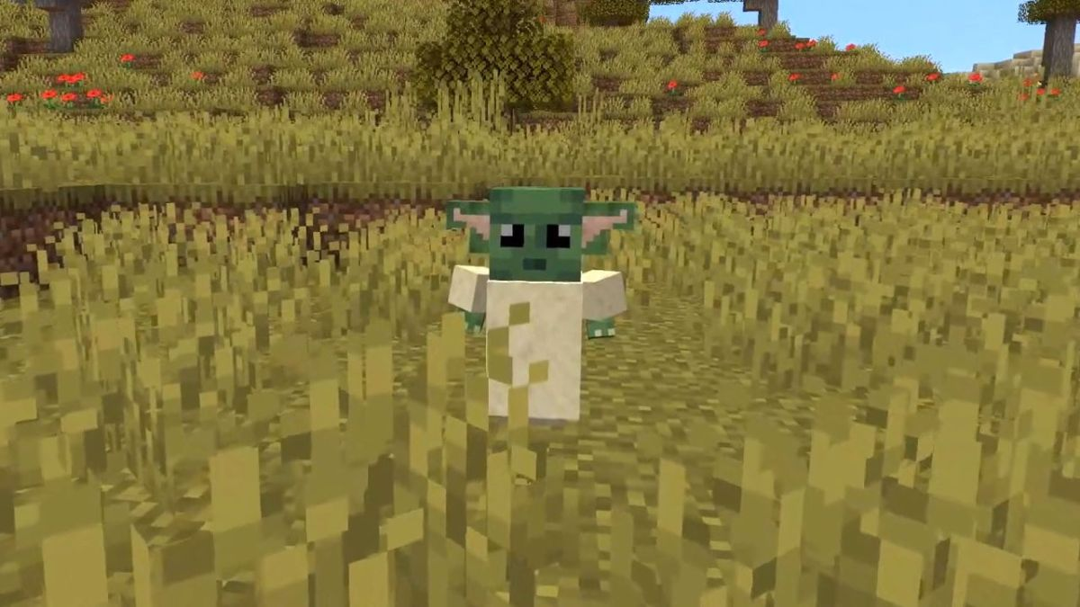 Minecraft Baby Yoda is coming, complete with Force powers