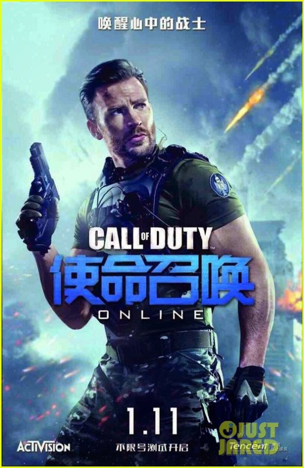 Chris Evans in Call Of Duty Online poster