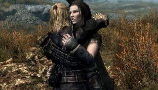 Skyrim hugs mod
