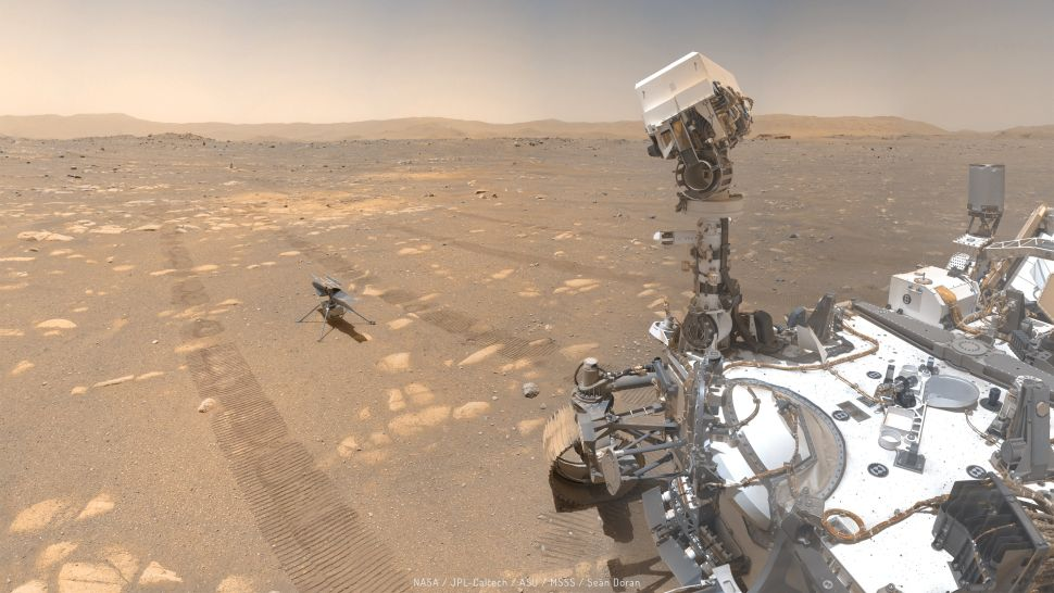 These selfies of NASA's Mars helicopter with the Perseverance rover are just amazing