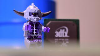 Lego figure and 3dfx GPU chip
