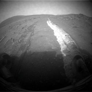 Image of Mars rover Spirit's tracks during it's mission to collect data about the red planet.