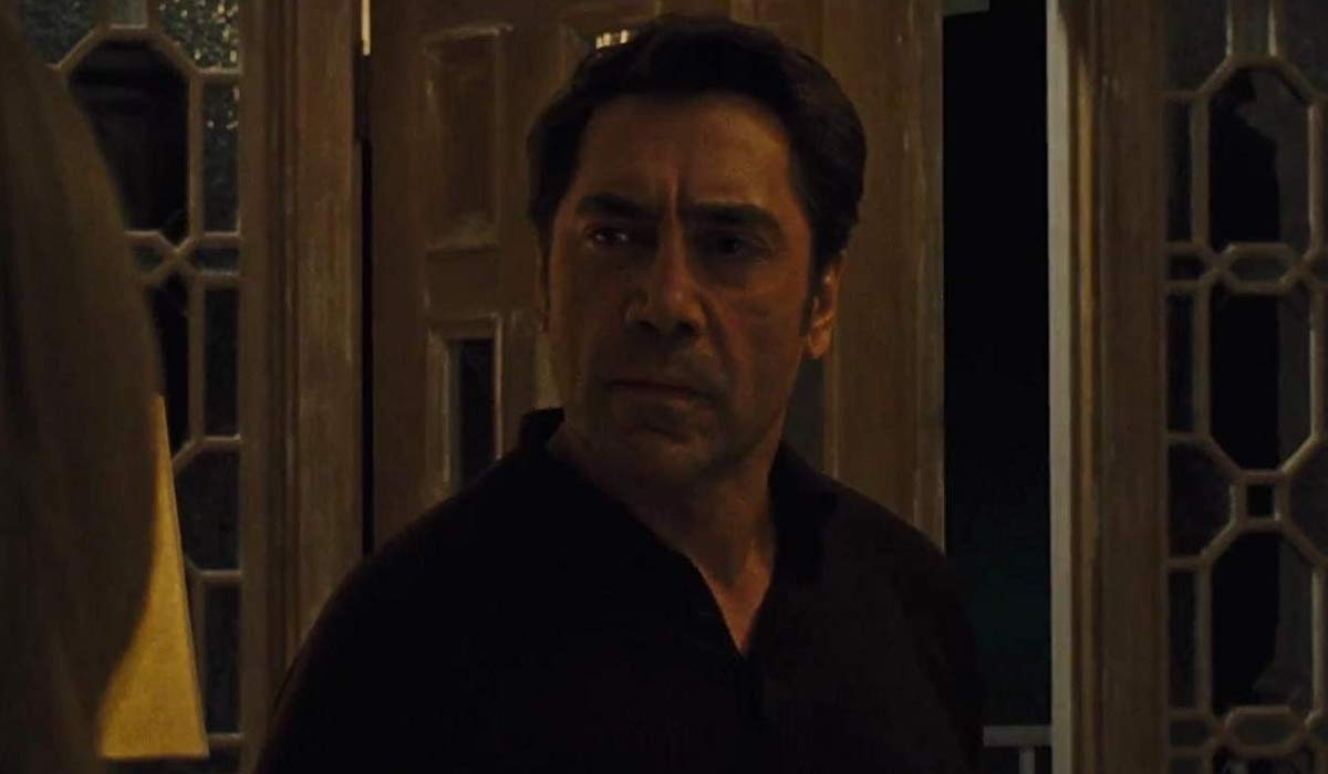 Javier Bardem with Jennifer Lawrence in Mother!