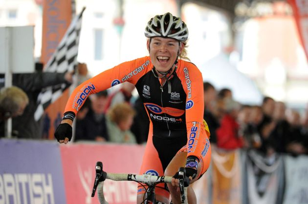 Hannah Barnes wins 2011 women's circuit race championhips.jpg