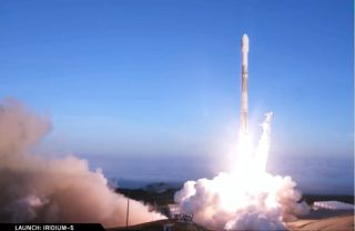 A SpaceX Falcon 9 rocket launched 10 Iridium Next satellites from Space Launch Complex-4E at Vandenberg Air Force Base on Friday, March 30, 2018.