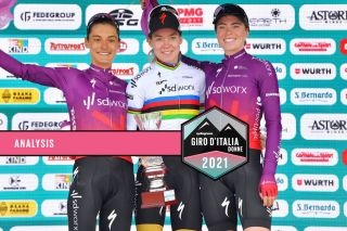 SD Worx claimed 1-2-3 as Anna van der Breggen soloed to victory ahead of her teammates Ashleigh Moolman Pasio and Demi Vollering