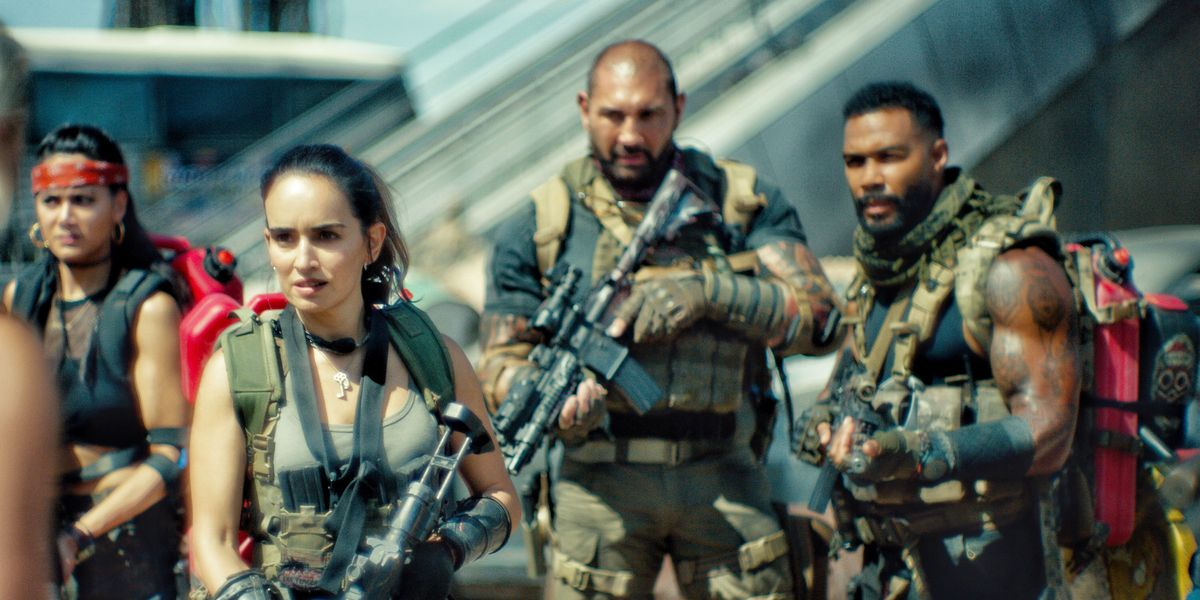Some of the cast of Army of the Dead, a Zack Snyder film.