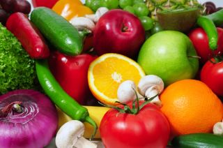 fruits, vegetables, flavonoids