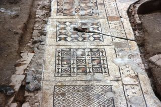 Roman mosaic in southern Turkey