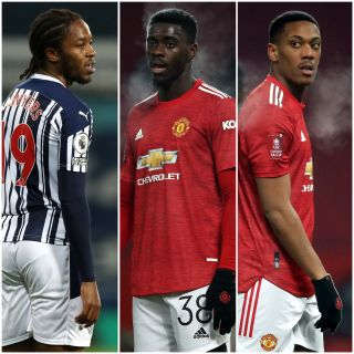 Romaine Sawyers, Axel Tuanzebe and Anthony Martial