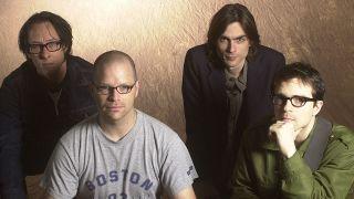 A studio shot of Weezer