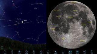 full moon rays