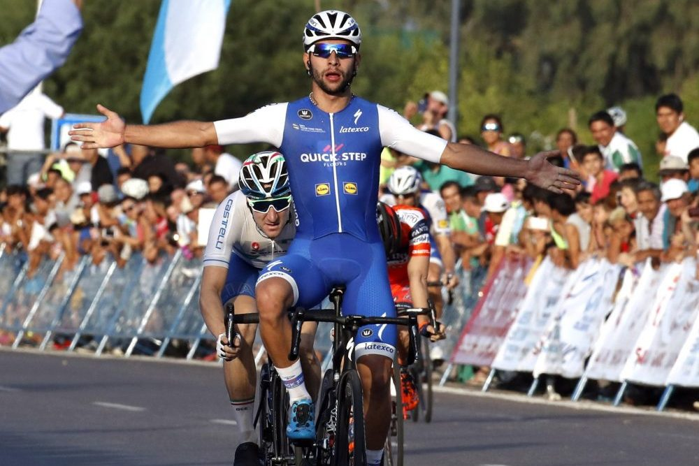 Thumbnail Credit (cyclingweekly.co.uk) (Photo: Graham Watson): Fernando Gaviria wins stage one of the 2017 Vuelta de San Juan (Credit: Watson)